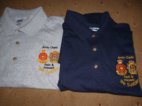 Army catering corps polo shirts